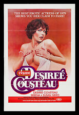 INSIDE DESIREE COUSTEAU * CineMasterpieces ADULT X RATED MOVIE POSTER 1979