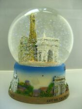 Eiffel tower huge snow globe Paris souvenirs of France
