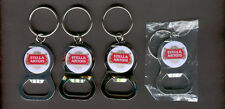 STELLA ARTOIS 4 KEY RING BEER BOTTLE WRENCH METAL OPENER NEW