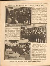 Funeral Aviator Reginald Warneford Royal Naval Air Service RNAS England 1915 WWI