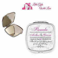 Personalised Mother of the Groom Compact Mirror Wedding Favour Thank You Gift