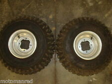 00 01 02 03 04 YAMAHA WARRIOR YFM 350 OEM REAR WHEELS RIMS TIRES ATV 22X10-9 99