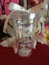 Monogram tumblers with straws, Personalized cups, bridesmaid, Intial Tumblers