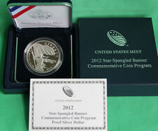 2012 Star-Spangled Banner Proof 90% Silver Dollar US Mint Coin with Box and COA