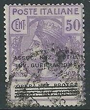 1924 REGNO USATO PARASTATALI INV. GUERRA ROMA 50 CENT - M40-6