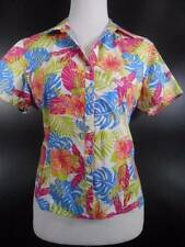 Tropical Women's PL Sag Harbor Sport Multi-Color Floral Short Sleeve Blouse GUC