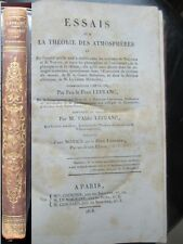 Science Abbé Lefranc Essai sur la théorie des atmosphères 1818