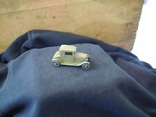 "Vintage Tootsietoy Ford Model A Army Green Black Radiator 2 1/2"" Dent on Roof"