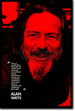 ALAN WATTS PHOTO PRINT - PHILOSOPHER POSTER GIFT ZEN TAOISM
