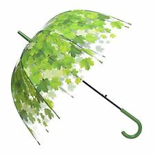 Remedios Automatic Open Transparent Clear Leaf Bubble Dome Rain Umbrella #53K