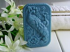 Beautiful Rectangular Lucky Peacock Silicone Mold for Soap Art Craft Making