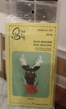 NEW, Stitch n Stuff Rudy Reindeer Wall Hanging  Pattern 1980