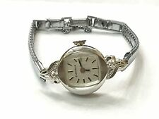 VINTAGE Caravelle  Mechanical   Windup Diamond  Ladies WATCH SWISS(CBD8728)