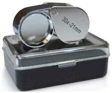 Jewellers Loupe Loop Eye Glass Magnifier 30x21 Hallmark Scrap Silver & Gold Coin