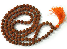 10 mm Rudraksha Mala 108 Beads Set !!! Wholesale Lot !!! ( 9 Pcs )
