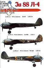 EagleCals Decals 1/72 German JUNKERS Ju-88A-4 WWII Bomber