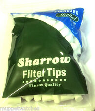 2 x BAG of 'STANDARD MENTHOL CHUNKY' 8mm FILTER TIPS By SHARROW = 400 Tips Total