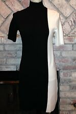 ZARA KNIT Collection Hi Neck Line Black and White Beautiful Dress Sz Small NWTs