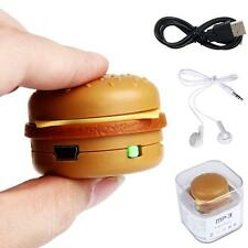 USB Mini Toy Hamburger MP3 Player Support 32GB Micro SD TF Card With headphone