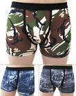 3D Men's Cartoon Cotton Shorts Denim Jeans Boxer Briefs nderwear