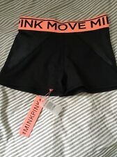 MinkPink Move Black And Neon Running Shorts Size S