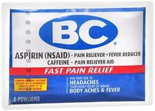 BC Original Formula Pain Relief Powders 6 Each (Pack of 7)