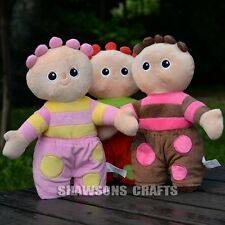 "IN THE NIGHT GARDEN PLUSH STUFFED TOYS SET TOMBLIBOO OOO UNN EEE12"" 3 SOFT DOLLS"