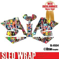 NEW SLED GRAPHIC STICKER WRAP ARCTIC SNO PRO 600 2008-2011 500 2010-2013 SL0554