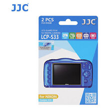 JJC LCP-S33 ultra hard polycarbonate LCD Film Screen Protector NIKON S33 2 PACK
