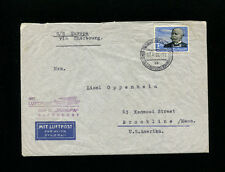 Catapult Cover K300B-34 1939 Germany Post  to USA With Supplementary Flight