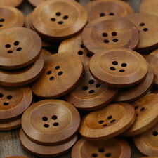 50 Pcs Wooden 4 Holes Round Wood Sewing Buttons DIY Craft Scrapbooking 25mm