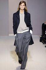 Marni Runway Sleeveless Turtle Neck Ivory Gray Tie Neck Tunic Blouse Top 42 New