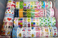 10 Rolls Mixed Cartoon Tape Adhesive Scrapbooking Stickers Decor 1.5X250cm