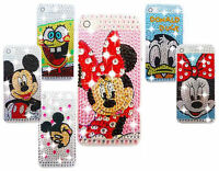 NEW DIAMANTE BLING DIAMOND CHARACTER CASE COVER FOR VARIOUS MOBILE PHONES IPHONE