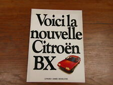 AUTOMOBILE BROCHURE CATALOG SALES CATALOGUE : CITROEN nouvelle BX 1983