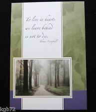Leanin Tree Sympathy or Funeral Greeting Card Multi Color R81 Memorial
