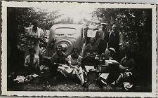 PHOTO ANCIENNE - VINTAGE SNAPSHOT - VOITURE AUTOMOBILE PEUGEOT PIQUE NIQUE - CAR