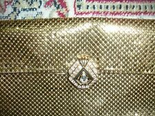 WHITING AND DAVIS GOLD MESH CLUTCH EVENING HANDBAG NO FLAWS VINTAGE