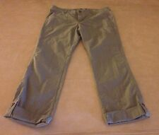 NWT The North Face Pinecrest Roll up Burnt Olive Green Women Pants Size 8