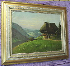 Altes Ölgemälde Schwarzwald Ludwig Mössler Rothenburg 1900 - 1930