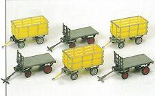 Postwagen 6 Stück UNBEMALT  Preiser 17112 Spur HO (16,5 mm) Zubehör OVP
