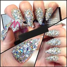 300Pcs Nail Art Rhinestones Glitter Diamond Gems 3D Tips DIY Decoration Wheel SU