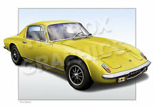 LOTUS ELAN 2+2 PRINT - PERSONALISED ILLUSTRATION OF YOUR CAR
