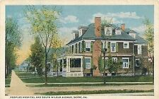 SAYRE PA – Peoples Hospital and South Wilbur Avenue - 1920