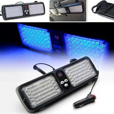 Car SUV Truck Sun Visor Emergency Warning Strobe 86 LED Blue Flash Beacon Light