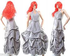 Femme Robe de Soiree Longue Mariage Ceremonie Bal + Etole GRISE 36 38 SCARLETT