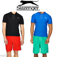 MENS BOYS SLAZENGER SHORT SLEEVE PLAIN POLO SHIRT CASUAL T SHIRT TOP SIZE S M