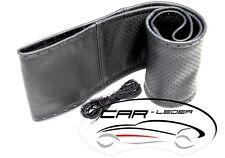 Copri Volante Volante VERA PELLE Nero lisco+Giallo perforato Taglia M 36-37 Audi