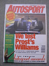 Autosport (9 Dec 1993) Williams FW15C track test, Nigel Mansell, Ralph Firman