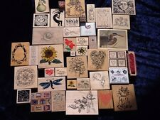 Rubber Stamps Lot Of 50 Flowers, Purses, Golf Bag, Dragon Fly & More!